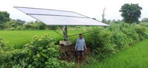 सौर ऊर्जा से धान और भाजी की कमी