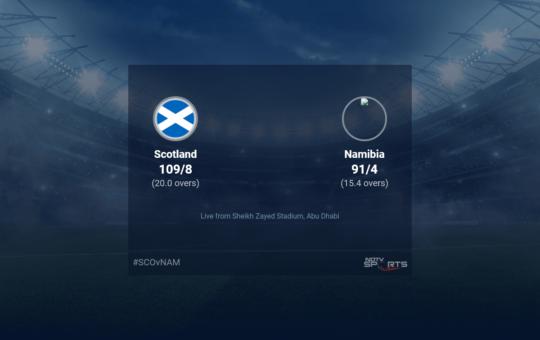 सुपर 12 पर स्कॉटलैंड बनाम नामीबिया का लाइव स्कोर - मैच 21 टी20 11 15 अपडेट
